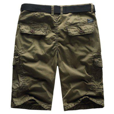 Men Shorts Casual Cozy Solid Color Cropped Cargo Pants Without Belt kicx stc 5 2