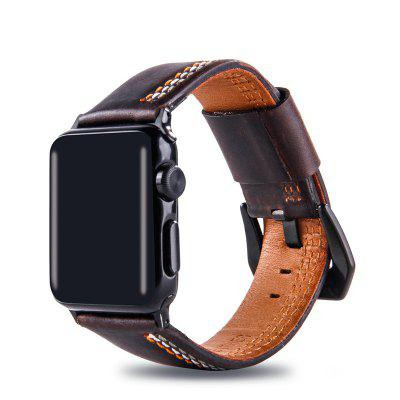 Leather Iwatch Strap Replacement Band for Apple Watch Series 3 / 2 / 1 42MM replacement band for garmin forerunner 910xt fr910xt gps running sports watch backup watchband watch band original band