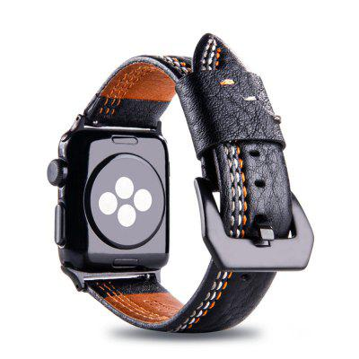 Leather Iwatch Strap Replacement Band for Apple Watch Series 3 / 2 / 1 38MM 38mm42mm genuine leather band for apple watch strap single tour double tour cuff leather for apple watch band