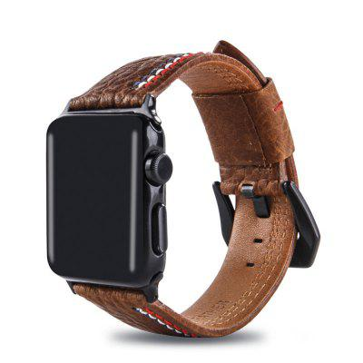 Leather Iwatch Strap Replacement Band for Apple Watch Series 3 / 2 / 1 38MM replacement band for garmin forerunner 910xt fr910xt gps running sports watch backup watchband watch band original band