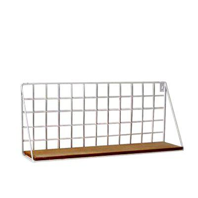 XH-A602 Simple Grid Word Shelf Kitchen Bathroom Wall Storage Rack copper bathroom shelf basket soap dish copper storage holder silver
