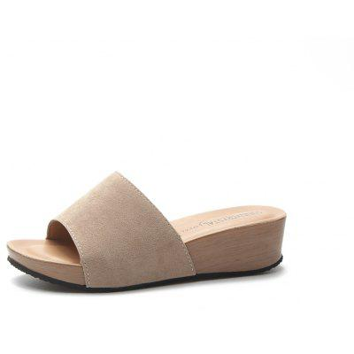 The Slope  Thick Soles Female Slippers