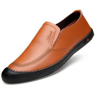 Men Pointed Toe Casual Slip Leather Business Shoes