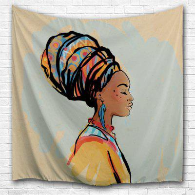 Gouache Woman 3D Printing Home Wall Hanging Tapestry for Decoration