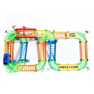 Creative Kid Rail Car Toy 90PCS