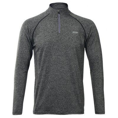 Buy ARSUXEO Men's Running Cycling Quick Drying Half-Zip Long Sleeve T-shirt, LIGHT GRAY, XL, Apparel, Men's Clothing, Sport Clothing, Weight Lifiting Clothes for $27.95 in GearBest store