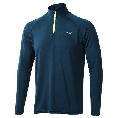 ARSUXEO Men's Running Cycling Quick Drying  Half-Zip Long Sleeve T-shirt
