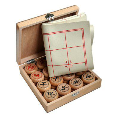 Chinese Chess Leather Board Wooden Gift Box Puzzle Board Game