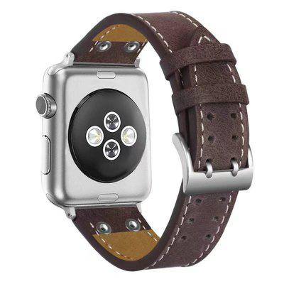38mm Classic Buckle Genuine Leather Wrist Strap  for iWatch 3/2/1