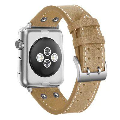 42mm Classic Buckle Genuine Leather Wrist Strap for iWatch 3/2/1 genuine leather classic buckle watch straps wrist band for apple watch 42mm red