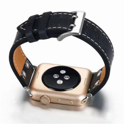 42mm Classic Buckle Genuine Leather Wrist Strap for iWatch 3/2/1