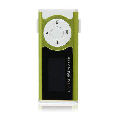 Mini USB Clip LCD Screen MP3 Media Players Support  Micro SD TF LED Flashlight