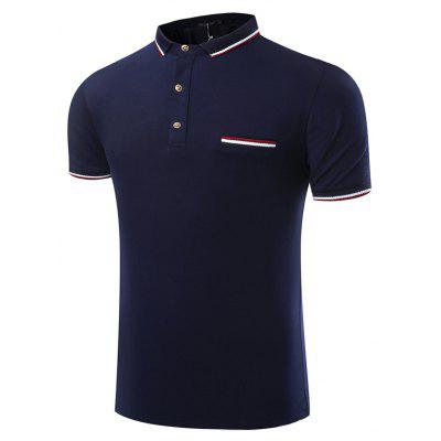 Summer Fashion Pure Color Business Leisure Men Short Sleeved Polo Shirt