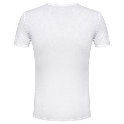 New Style and New Personality Stamp for Men's Short Sleeve T-shirts new