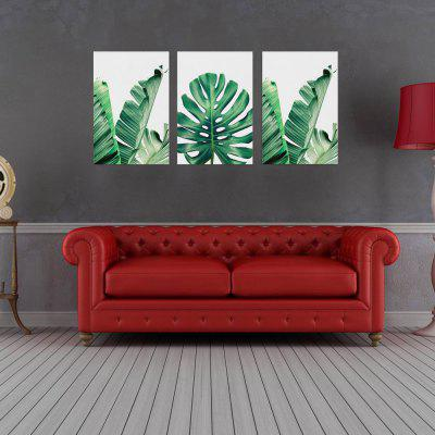 W186 Leaves Unframed Art Wall Canvas Prints for Home Decorations 3 PCS horses printed unframed wall art canvas paintings