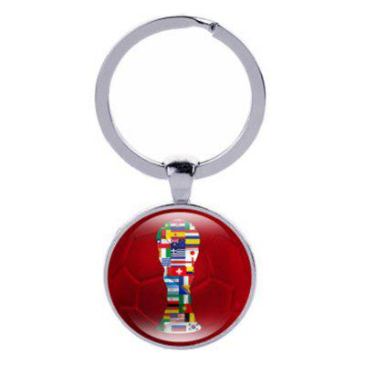 2018 Football Pattern Keychain Hanging Pendant Key Ring with Bottle Opener