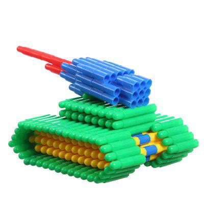Learning Educational DIY Colorful Bullet Blocks Model Building Toy 300g abbyfank 240 pcs rainbow domino blocks wooden building colored learning educational toys wood dominos bricks gift for children