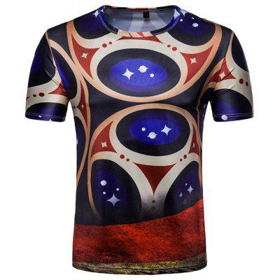 Buy Fans Celebrate Men's Printed Short-Sleeved T-Shirts, DEEP BLUE, 2XL, Apparel, Men's Clothing, Men's T-shirts, Men's Short Sleeve Tees for $12.95 in GearBest store