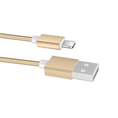 1M Nylon Micro USB Cable for iPhone Fast Charge WireChargers &amp; Cables<br>1M Nylon Micro USB Cable for iPhone Fast Charge Wire<br><br>Cable Length (cm): 100<br>Material ( Cable&amp;Adapter): Nylon, Aluminum Alloy<br>Package Contents: 1 x USB Cable<br>Package size (L x W x H): 15.00 x 10.50 x 1.00 cm / 5.91 x 4.13 x 0.39 inches<br>Package weight: 0.0330 kg<br>Product Size(L x W x H): 100.00 x 2.00 x 0.80 cm / 39.37 x 0.79 x 0.31 inches<br>Product weight: 0.0310 kg<br>Type: Cable