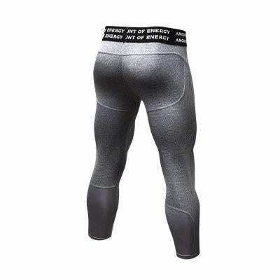 Men Gym Compression Sports Tights Running Quick Dry Fitness Cropped Pants naturehike 2016 quick dry sport pants for men sportwear removable design durable hiking running men clothing s m l xl xxl xxxl