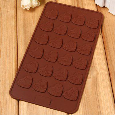 Love Shape Chocolate Silicone Mold Brown