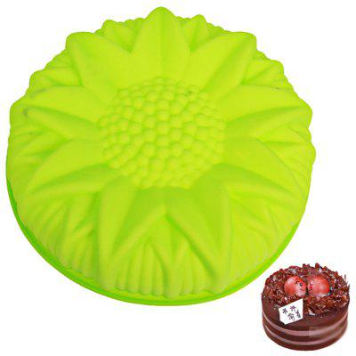 Big Sunflower Silicone Cake Mold silicone rubber omelette with hand held silicone mold