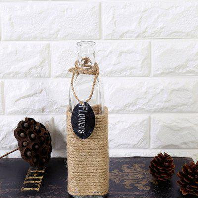 WX-11 Vintage Hemp Rope Flower Glass Bottle small amber essential oil bottle with plastic lid 1ml glass bottle mini brown glass vials mini glass container