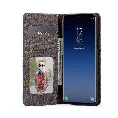 CaseMe for Samsung Galaxy S9 Cloth Texture Prmium Leather Case with Card Slots hat prince the big ben pattern protective case w card slots for samsung galaxy s5 mini multicolor