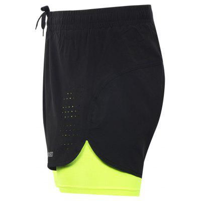 ARSUXEO Men's Running Breathable Active Training Cycling Shorts arsuxeo ar608s quick drying cycling polyester jersey for men fluorescent green black l
