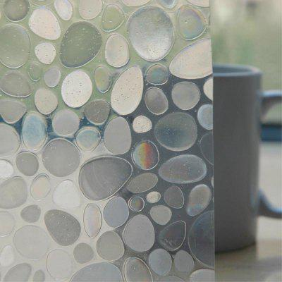 Фото - Electrostatic PVC Frosted Glass Window Transparent 3D Stickers 3d pvc