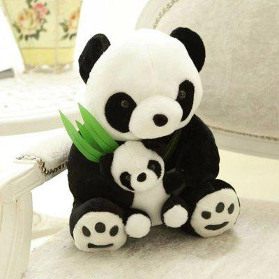 Bamboo Leaf Mother and Mother Panda Plush Toy Wedding Doll