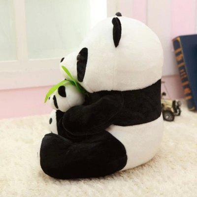 Bamboo Leaf Mother and Mother Panda Plush Toy Wedding Doll npkcollection 55cm full silicone body reborn baby doll toy realistic newborn boy babies doll lifelike birt hday gift for girls