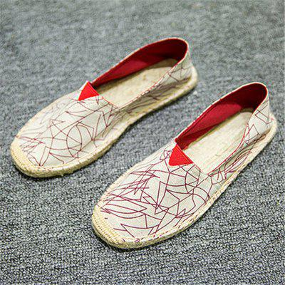 Men and Women Casual Canvas Flat Heel Flats Loafers Shoes new style fashion men loafers gold embroidery handmade men velvet shoes party and wedding men s flat size us 6 14 freeshipping