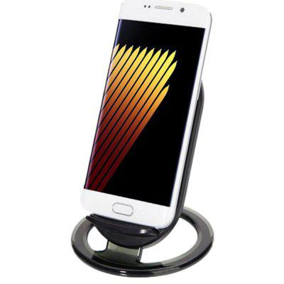 Qi Wireless Charger Fast Wireless Charging Docking Dock Station 5 qi standard mobile wireless power charger eu plug i9500 wireless charger receiver white blue
