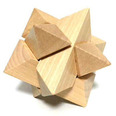 3D Interlocking Wooden Burr Ming Brain Puzzle Cube cartoon wooden puzzle 1000pieces animals cube wood kids toys educational montessor ijigsaw puzzle adulto children toys 60d0046