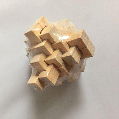IQ Wooden Puzzle Mind Brain Teasers Burr Game Toy dayan 5 zhanchi 3x3x3 brain teaser magic iq cube