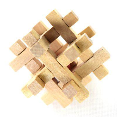 Wooden Take the Ball from Cage Lock Logic Puzzle Burr Puzzles Brain Teaser dayan 5 zhanchi 3x3x3 brain teaser magic iq cube
