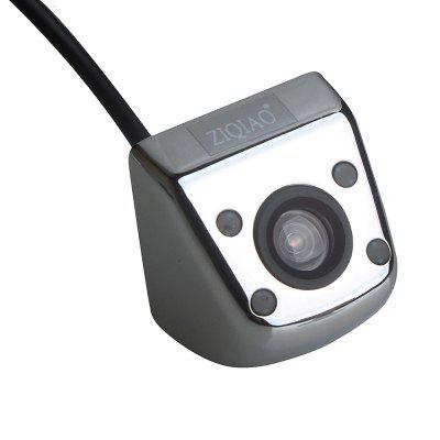 ZIQIAO Waterproof 4 LED IR Night Vision Color CCD Car Rear View Camera