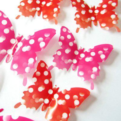 12 Pcs 3D  Butterfly Shape Three-Dimensional Wall Sticker 45 pcs pack animal blue whale fish mini paper sticker diary decoration diy scrapbooking label seal sticker stationery