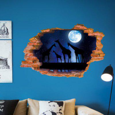 3D Moon Star Wall Stickers Decals for Living Room