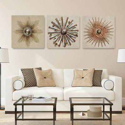 W198 3D Abstract Flower Unframed Art Canvas Prints for Home Decorations 3 PCS