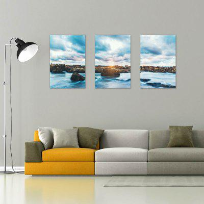 W202 Sea and Reef Unframed Art Wall Canvas Prints for Home Decorations 3 PCS вьетнамки reef day prints palm real teal