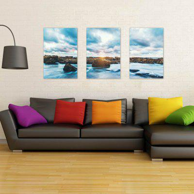W202 Sea and Reef Unframed Art Wall Canvas Prints for Home Decorations 3 PCS