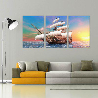 W203 Sailboat Unframed Art Wall Canvas Prints for Home Decorations 3 PCS w129 water lily unframed art wall canvas prints for home decorations 3 pcs