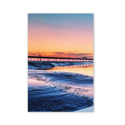 W204 Sunset Scenery Unframed Art Wall Canvas Prints for Home Decorations 3 PCS 4pcs waves sunset printed canvas unframed wall art