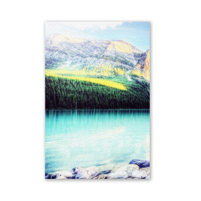 W206 Mountain and Lake Unframed Art Canvas Prints for Home Decorations 3 PCS