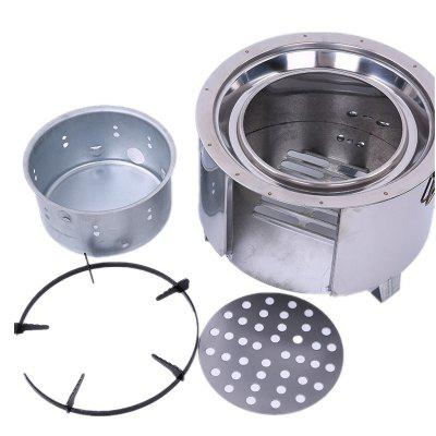 Outdoor Camping Portable Wind-Proof Picnic Charcoal Alcohol Stove Barbecue
