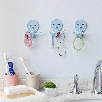 Cute Octopus Strong Adhesive HooksHooks &amp; Racks<br>Cute Octopus Strong Adhesive Hooks<br><br>Functions: Home<br>Materials: ABS<br>Package Contents: 3 x Hook Up<br>Package Size(L x W x H): 10.00 x 11.00 x 3.00 cm / 3.94 x 4.33 x 1.18 inches<br>Package weight: 0.0320 kg<br>Product Size(L x W x H): 9.00 x 10.00 x 2.00 cm / 3.54 x 3.94 x 0.79 inches<br>Product weight: 0.0300 kg<br>Types: Hooks and Racks