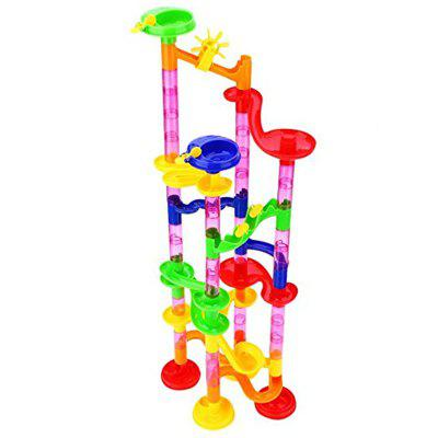 Marble Run Maze Race DIY Building Construction Track Balls Blocks Toy 105PCS onshine 70pcs train toy model cars wooden building slot track rail transit parking garage toy vehicles kids gifts