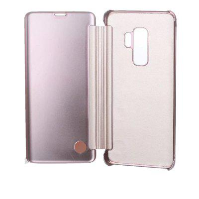 for Samsung Galaxy S9 Case Clear View Standing Mirror Flip PC Cover ultra slim clear phone cases for samsung galaxy s6